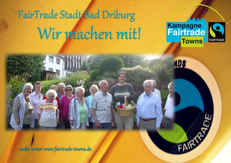 Haus Lebensform beteiligt sich an der Kampagne FairTrade Stadt Bad Driburg